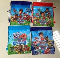 hello kitty school bag - Puppy Dog Cartoon Backpacks Styles Kids Non Woven Drawstring Backpacks JJ Creeper Star Wars Children Shoulders School Bags Shopping Bags