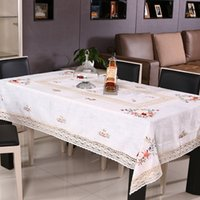 table covers - Rural ecological cotton handmade ribbon cloth embroidered table cloth multi purpose cover towel round tea table cloth