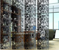 wall dividers - Fashion Room divider hanging screen partition Hollow out Model wall stickers door curtain wall decoration