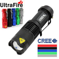 Wholesale Brand New Ultrafire LM CREE Q5 LED Camping Flashlight Mode Torch Adjustable Focus Zoom waterproof flashlights Lamp