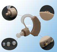 Wholesale Hearing Aids Ear Sound Amplifier Surround Deaf Ear Care Tone Adjustable Hearing Aids Protection Battery AG13 Device