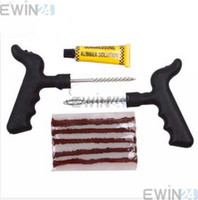 tire repair tools - Car Bike Auto Tire Puncture Plug Repair Tool Kit For Tubeless Tyre Safety Strip sets
