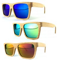 polaried bamboo - Wood Sunglasses men women with Bamboo box Handmade wooden glasses revo mirror polarized coating sunglasses ESWD103