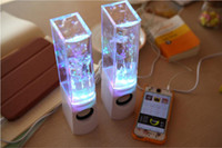audio amplifer - Flash and Light Up Fountain MP3 Player Amplifer Dancing Water Speakers V USD Plugs Mobile PC Speakers