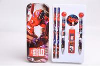 Wholesale Children s Stationery Stationery Big Hero Stationery Set School Gift set DHL Free