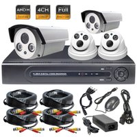 Wholesale 4CH AHD H P Full Realtime DVR System MP Array IR Indoor Outdoor Camera