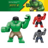 Wholesale 3pcs The Avengers HULK Super Hero cm High Quality Building Bricks Blocks Sets Figures Minifigures Learning Toys Children Christmas Gift