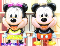 balloon animations - big size Minnie and mickey mouse foil balloon helium cartoon animation balloons for party minions baby toy ballons