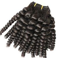 6a grado Nigeria Aunty Funmi Cabello Sin procesar Extensiones brasileñas de cabello humano Virgin Spiral Curls 3 paquetes, Bouncy Curly 4 PCS Lotes