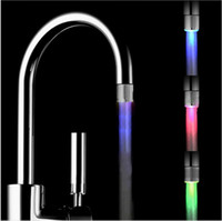 Wholesale LD8001 A12 Temperature LED shower Faucet tap Light Temperature Controlled Sensor LED Faucet Light