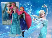 hat box - Frozen Figure Play Princess Anna Elsa with hat Classic Toy Frozen Toys Dolls With Retail Box