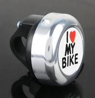 alluminium bike - PC Bicycle Bell Ring Colors Alluminium I Love My Bike Letters Cycling Horn With Fittings Mountain Road Bike