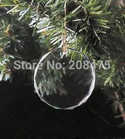 clear glass ornaments - clear glass faceted hanging ornaments pendants for tree decoration for party with