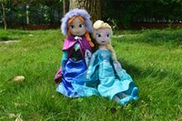 Wholesale Frozen plush toys New cm Princess Elsa Plush Anna Plush Doll Brinquedos Kids Dolls EMS