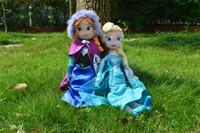 fashion dolls - Frozen plush toys New cm Princess Elsa Plush Anna Plush Doll Brinquedos Kids Dolls EMS