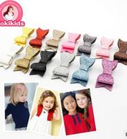 Barrettes Cloth Solid Free Shipping Glitter 2015 Bestseller Glitter Felt Hair Clips Mini Size Baby Pink Barrettes Modern Girls Hairpins B3569