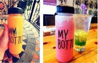 Wholesale My Bottle ml Fashion Sport My bottle Lemon Juice Readily Cup Space Cup Water Bottles Fruit Ice Bottle DHL