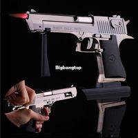 pistol - 1509 Metal Desert Eagle Windproof Lighter Smoking Cigarette Cigar Lighter Pistol Gun Shaped Refillable Butane Gas Flame Jet Lighter