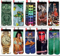 Cheap Free DHL 3D ODD thicken socks cotton skateboard socks printed gun emoji tiger skull socks
