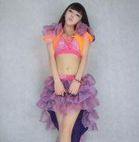 adult tutus plus size - ds costumes female Xia Xuesheng modern dance tutu skirt sexy nightclub stage skirt suit adult swallowtail