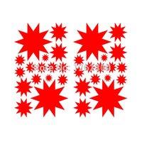baby bumper stickers - 50 Star Starburst Art Wall Stickers For Kid Room Baby Bedroom Car Window Bumper Laptop Locker Glass Colors