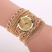 Wholesale Bohemia style Women Dress Watch Fashion Multilayer Chain Wrap Bracelet Watch Quartz Watches Relojes Mujer W75