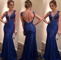 Blue Lace Bridesmaids Dresses