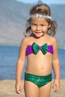 Wholesale High Quality Girls Kids Mermaid Bikini Set Fantasy Princess Swimwear Swimsuit Cute Beachwear Swimming Costume From Factory