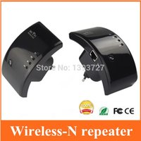 Wholesale Black New M n b g Network Wireless WiFi repeater Router WLAN Repeater Wi Fi Antennas Signal Boosters Range Extender