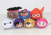 armor hero toys - TSUM Tsum Big Hero Red Armor Baymax Mini CM TSUM baymax Plush Doll Key Phone Screen Wipe Gifts Christmas gift