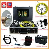 Wholesale 2014 Waterproof pipe plumbing inspection camera M cable underwater camera inspection built in DVR GSD9000B
