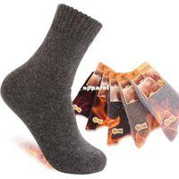 thermal socks - high quality Men s thickening ourdoor merino wool thermal socks original brand sport male winter sock WEK201301