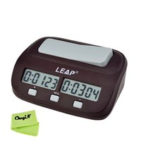 Wholesale Leap PQ9907 Professional Digital Chess Clock Electronic Chess Clock Count Up Down Timer for Chess Set Board Game QZ003 order lt no trac