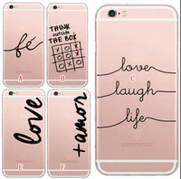 apple outside - For iphone S Plus S Thanks Thank Outside The Box Super Love Laugh Life Printing Soft TPU Silicone Cases Fashion Slim Gel Skin