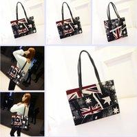 handbags usa - 4 colors Casual Personalized Large Capacity PU Shoulder Bag For Women USA Flag Bags Girls Tote Handbags Beach Bags Frozen A
