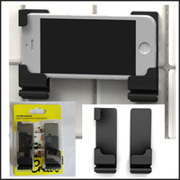 wall mounted holder - Black Color Cell Phone wall stand Holder Mount Bracket Universal use for iPhone s s Sumsung