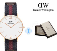 Wholesale Daniel Wellington luxury brand fashion casual sports men watch relogio masculino reloje rose gold women Roman leather nylon strap DW watches