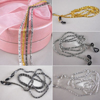 Wholesale 4x Glasses Neck Chain Cord Lanyard Gold Silver Retainer Spectacles Sunglasses Neck Cord Strap Chain Rope silver gold white black