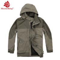 Wholesale Shooterking male function outdoor hunting jackets spring and autumn wax mosquito windproof waterproof outdoor jacket h2101