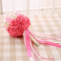 artifical garland - Whosale New Arrival Wedding Accessories bride Bouquets Flowers Petals Garlands Artifical Supplique Brides Hand WWL