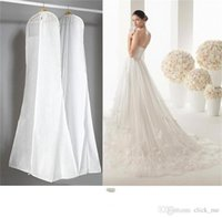 wedding dress garment bag - 2015 Wedding Dress Gown Bags White Dust Bag Travel Storage Dust Covers Bridal Accessories For Brid Garment Cover Travel Storage Dust Covers