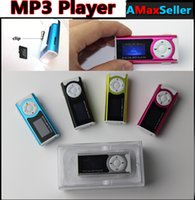 Wholesale New Cheap Portable mini Clip Digital MP3 Players LCD Screen LED Light Torch Mini mp3 player Support SD TF Card With Crystal Retail Box