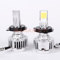 Wholesale A Pair A233 Car LED Headlight Foglight Bulbs All In One H4 H L Bi LED Headlight Kit White With Cooling Fan V LM W