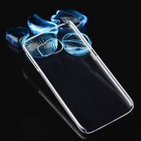 Wholesale Ultra thin Crystal Clear Transparent PC Hard Case For iPhone Plus s Samsung Galaxy S7 S6 Edge Slim Plastic Sheild Protective Cover NEW