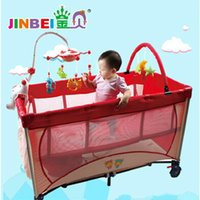 Wholesale Two Floors Foldable Baby Bedding Set For Palying And Sleeping