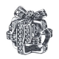 Wholesale 925 Sterling Silver Charm Openwork Gift With Zircon European Charms Silver Beads For Snake Chain Bracelet DIY Fashion Jewelry