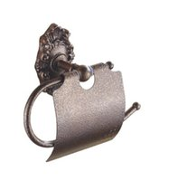 Wholesale CNXIRI Roman Ancient Bronze Paper Holders Porcelain brass Wall Mounted Toilet Paper Holders Bathroom Accessories hardwares A FN8301G