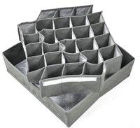 Wholesale Storage Box Folding Cells Bamboo Charcoal Underwear Ties Necktie Bra Socks Drawer Closet Organizer Storage Box DHL
