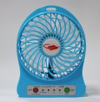 battery operated portable fan - Free DHL Portable Mini USB Fan Rechargeable Battery Operated LED Lamp for Indoor Outdoor Kids Table Battery