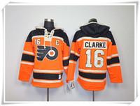 best flyer - ICE Hockey Hoodies Jerseys Flyers Men Clarke Voracek Hextall orange Best quality Jerseys Sports jersey Mix Order